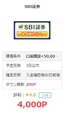 SBI証券 モッピー