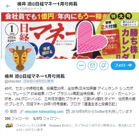 桶井道さんツイッター